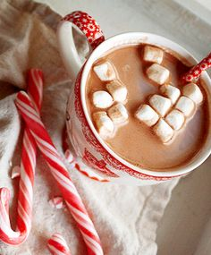 hot chocolate & peppermints