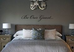 I LOVE this for a guest room!