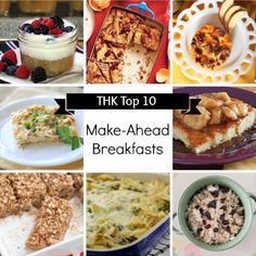 Top 10 Healthy Make-Ahead Breakfast Recipes from Two Healthy Kitchens - Want a delicious, satisfying breakfast waiting in the morning? After oodles of research and debate, here are our top 10 healthy make-ahead breakfast recipes! Yum!