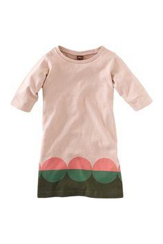 Dots Pink Shift Dress - Tea Collection