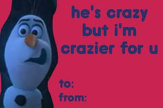 Frozen valentines lol