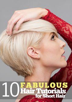 10 Fabulous Hair Tutorials For Short Hair #beauty #hair #hairstyles