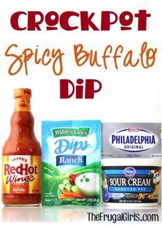 Crockpot Spicy Buffalo Dip Recipe at TheFrugalGirls.com