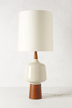 Crackled Porcelain Lamp Ensemble    #anthropologie