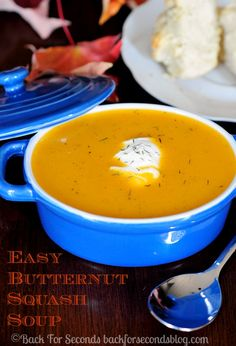 Brown Butter Butternut Squash Soup - perfect fall comfort food. My family LOVES this easy soup!