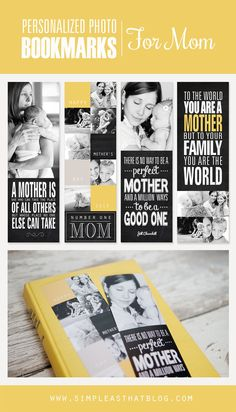 mom gifts, photo bookmark, person photo, mothers day, templat