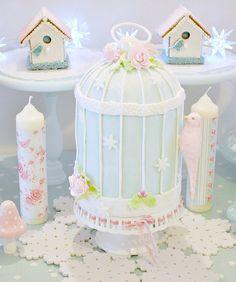 Bird cage Christmas cake