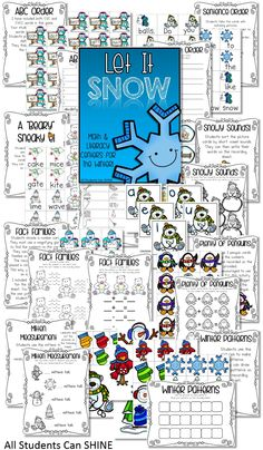 Let It SNOW! Literacy & Math Centers For The Winter