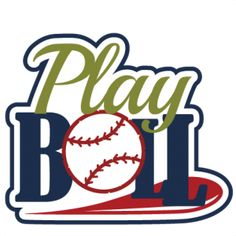 PINNED for my friend Jane Hamburg to share Play Ball SVG scrapbook title baseball svg scrapbook title baseball svg cut files free svgs
