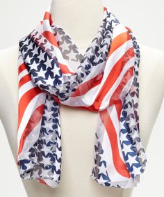 Red & Blue Stars & Stripes Scarf