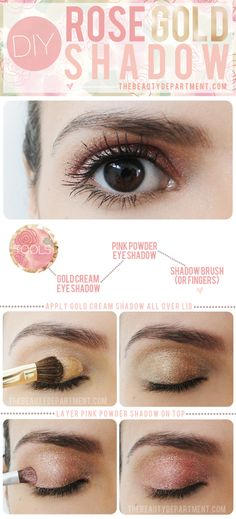 DIY Rose Gold Eye Shadow: Bridal Beauty - Want That Wedding ~ A UK Wedding Inspiration & Wedding Ideas Blog