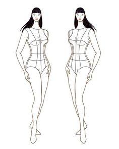 Female Fashion Figure Croqui 017