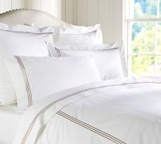 Grand Embroidered 280-Thread-Count Duvet Cover & Shams | Pottery Barn