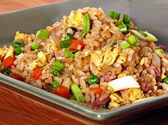 Garlic Fried Rice - we made the chicken version. I went ahead and added the garlic mix early to let it mellow for the kiddo but it's good either way. Makes great leftovers too!