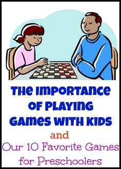 The Importance of Games for Kids plus our 10 favorite games for preschoolers. I cant believe how much kids can learn by playing board games.