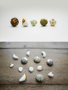 porcelain ring, jewelleri, ceram, seashells, jewelri