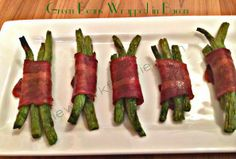 Green Beans wrapped in bacon!