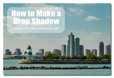 How to add a drop shadow in Photoshop Elements