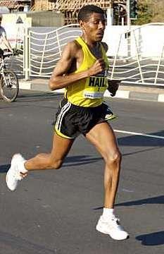Haile Gebrselassie (men's marathon world record holder, 2:03:59, Berlin 2008)