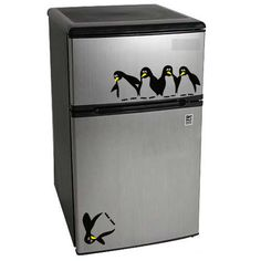 Friends? I need this in my life ;)    Save the Penguin Wall Decal for Mini Fridge. $9.95, via Etsy.