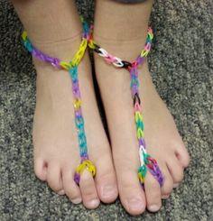 Rainbow Loom Barefoot Sandals