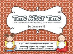 This packet is full of hands-on games and activities to keep your littles engaged in learning about telling time to the hour and half hour.  In thi...