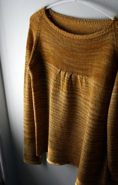 Sweater | Wide neck | Veera Välimäki. malabrigo Sock, Ochre color. sock, sweater, woman fashion, fashion outfits, colors, jumpers, yarn, design, leggings