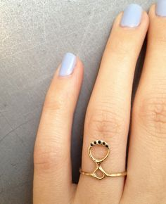 odette ny totem ring black diamonds