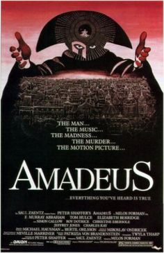 Films with fashion influence - 1984 Amadeus poster