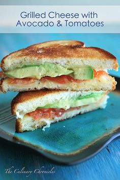 My comfort food--Grilled Cheese on Kings Hawaiian Bread with Avocado & Tomatoes