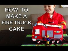 cake tutorial, fire truck cakes, fire trucks, cake decor, engin birthday