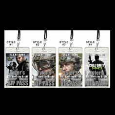 CALL OF DUTY MW3 VIP PASSES WITH LANYARDS