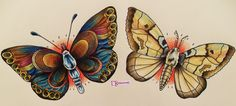 butterfly and moth
