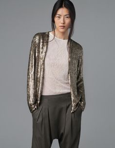 Must have - Sequin cardigan - monstylepin  #fashion #musthave #trend #glitter #sequin #blazer