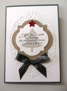 Stampin' Up! Christmas - I can use my framelits for this.