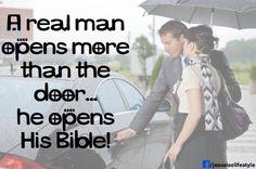 A real man...