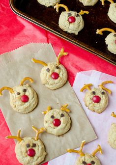 Rudolph Peanut Butter Cookies by Pennies on a Platter, via Flickr
