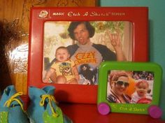 idea, craft, etchasketch pictur, stuff, kid rooms, fathers day gifts, picture frames, diy father, pictur frame