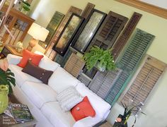 What a great use for old wooden shutters