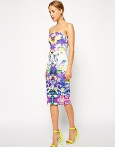 ASOS Floral Placed Body-Conscious Dress http://asos.to/1r0EP11