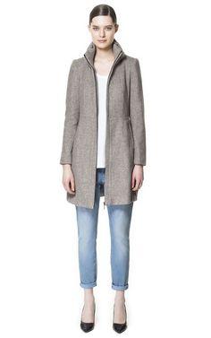 high collar, fashion, style, cloth, zara unit, outfit, collars, coats