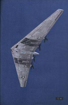 Northrop YB-35 flying wing strategic bomber.