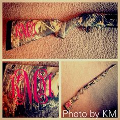Hunting Gun Monogram want this for mine and Chloe's rifles!!!!!!!!!!! $3.00