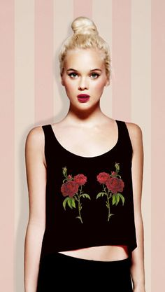 Gemini Rose Print Tank Top