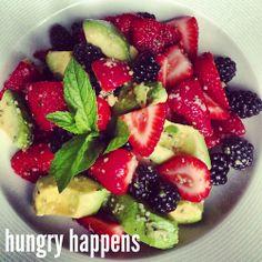 epic strawberry avocado salad 3 cups strawberries, sliced 1 medium ...