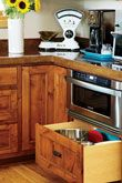 Deep drawers make large pots, pans and more easy to access and store./ Kitchen