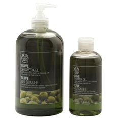 Olive shower gel from The Body Shop.