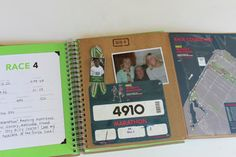 want to make a race scrapbook - because I want to run enough races to need it