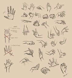 Hands Reference I by =Ninjatic on deviantART