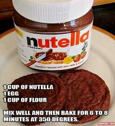 Nutella cookies. Make homemade ice cream and have awesome, cleaner-eating ice cream sandwiches!